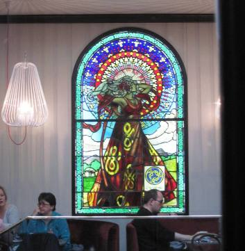 stained glass window in Bewley's cafe, Dublin