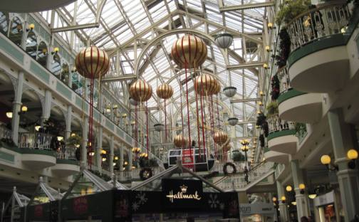 Interior of St. Stephen's Green shopping in December 2012