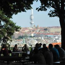 Zizkov Tower from Letna Park